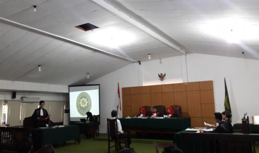 LAST REHEARSAL OF DELEGATE FH UNAIR FOR NMCC PIALA MAHKAMAH AGUNG XXI