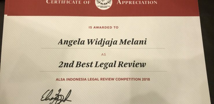 FH UNAIR AS RUNNER UP IN ALSA INDONESIA LEGAL REVIEW COMPETITION